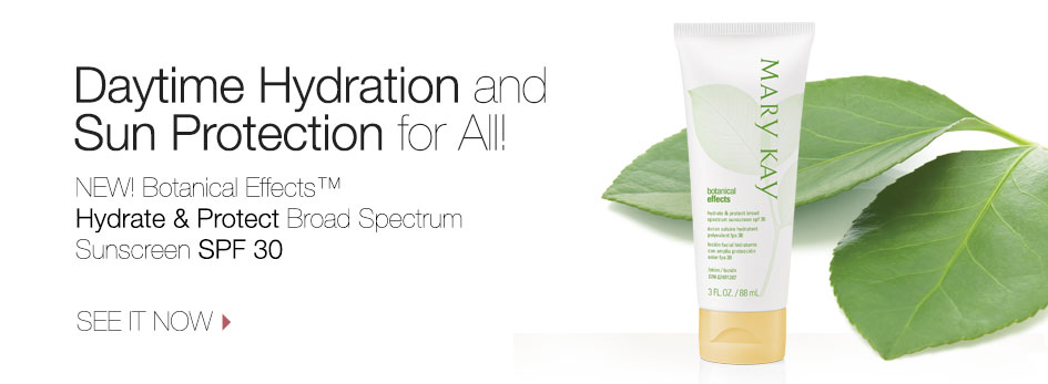 Daytime Hydration and Sun Protection for All! New Botanical Effects Hydrate and Protect Broad Spectrum Sunscreen SPF 30. See it now.